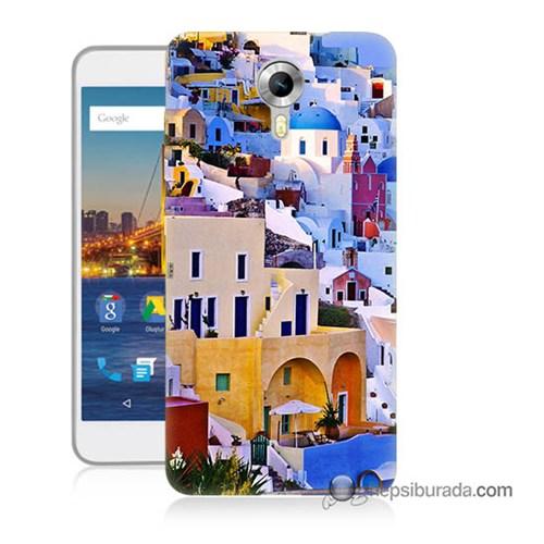 Teknomeg General Mobile 4G Android One Kılıf Kapak İbiza Baskılı Silikon