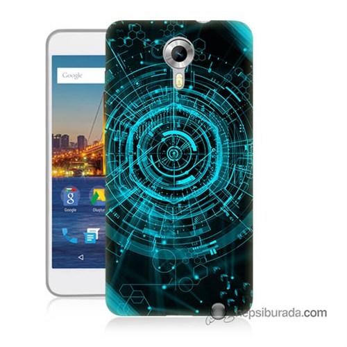 Teknomeg General Mobile 4G Android One Kapak Kılıf Asit Baskılı Silikon