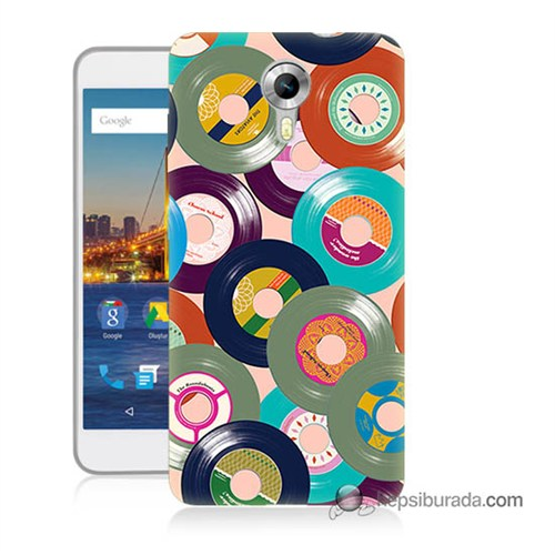 Teknomeg General Mobile 4G Android One Kapak Kılıf Renkli Plaklar Baskılı Silikon