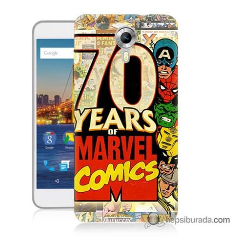 Teknomeg General Mobile 4G Android One Kılıf Kapak Marvel Karakterleri Baskılı Silikon