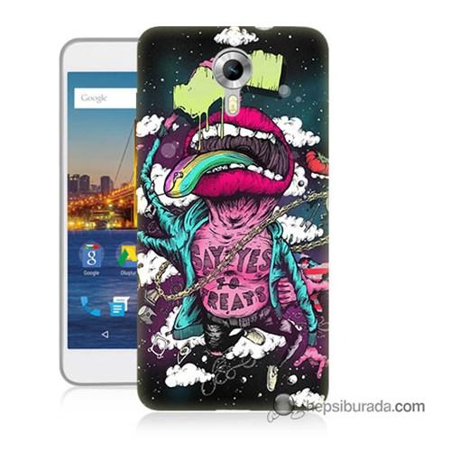 Teknomeg General Mobile 4G Android One Kapak Kılıf Roling Stones Baskılı Silikon