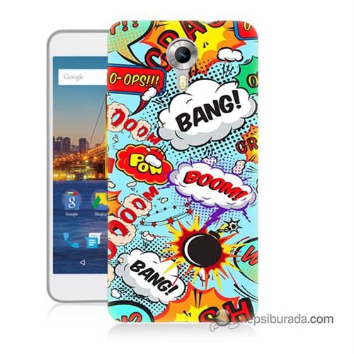 Teknomeg General Mobile 4G Android One Kılıf Kapak Savaş Efektleri Baskılı Silikon