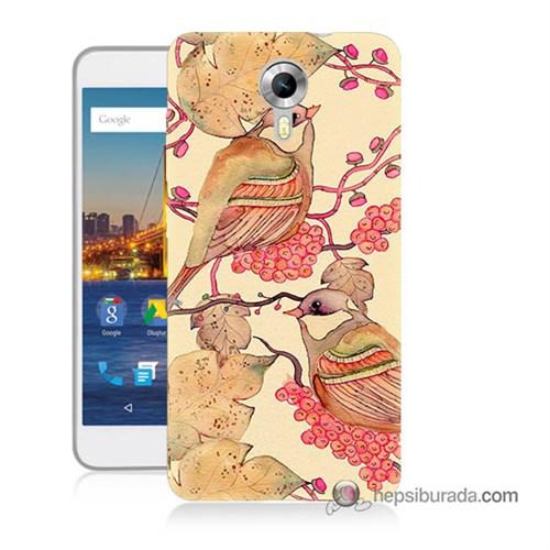 Teknomeg General Mobile 4G Android One Kılıf Kapak Kuşlar Baskılı Silikon