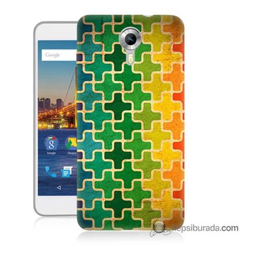 Teknomeg General Mobile 4G Android One Kapak Kılıf Renkli Artı Baskılı Silikon