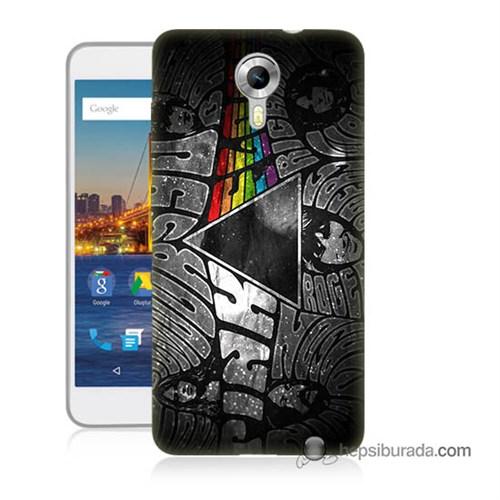Teknomeg General Mobile 4G Android One Kapak Kılıf Pink Floyd Baskılı Silikon