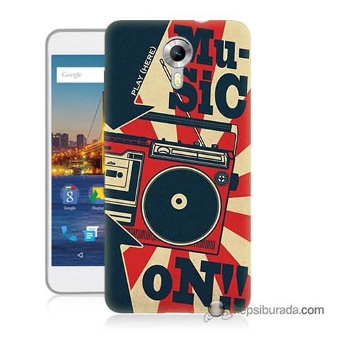 Teknomeg General Mobile 4G Android One Kapak Kılıf Müzik Baskılı Silikon