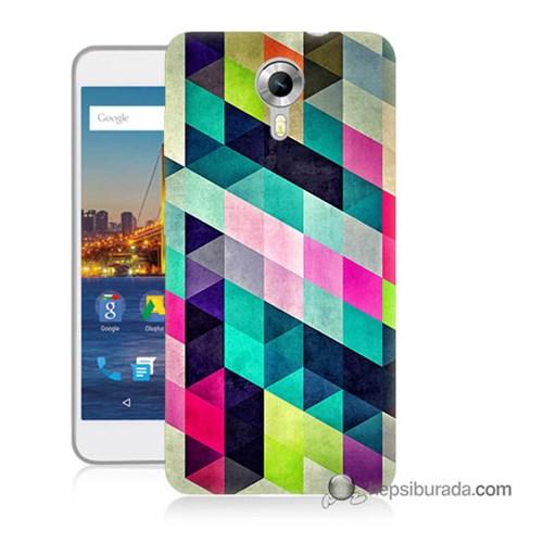 Teknomeg General Mobile 4G Android One Kılıf Kapak Mozaikler Baskılı Silikon