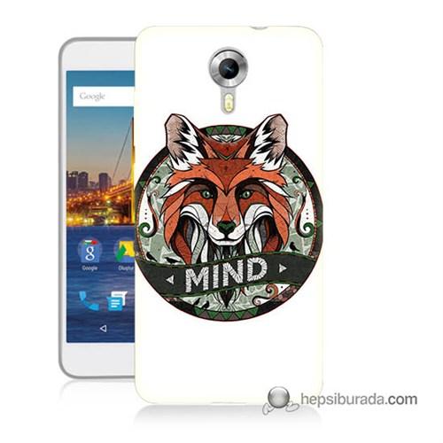Teknomeg General Mobile 4G Android One Kapak Kılıf Zeki Tilki Baskılı Silikon