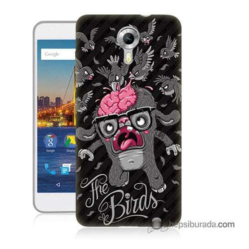 Teknomeg General Mobile 4G Android One Kılıf Kapak The Birds Baskılı Silikon