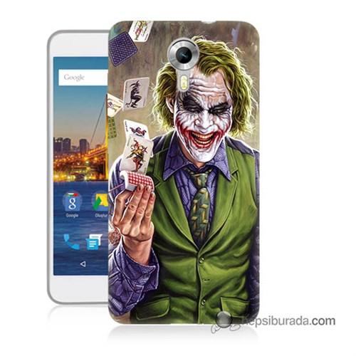 Teknomeg General Mobile 4G Android One Kılıf Kapak Kartlı Joker Baskılı Silikon