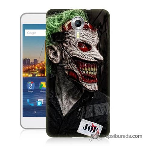 Teknomeg General Mobile 4G Android One Kapak Kılıf Joker Joe Baskılı Silikon
