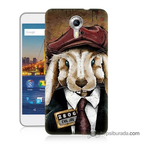 Teknomeg General Mobile 4G Android One Kapak Kılıf Kötü Tavşan Baskılı Silikon