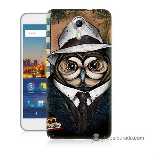 Teknomeg General Mobile 4G Android One Kapak Kılıf Crazy Jones Baskılı Silikon