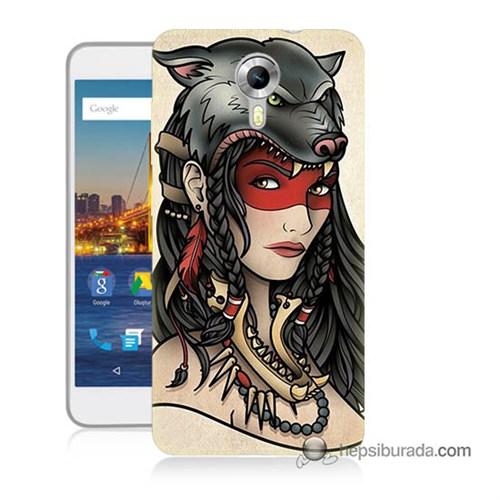 Teknomeg General Mobile 4G Android One Kapak Kılıf Pocahontas Baskılı Silikon