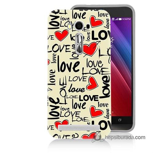 Teknomeg Asus Zenfone Laser 5.0 Kapak Kılıf Love Baskılı Silikon