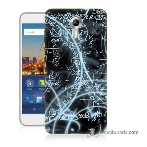 Teknomeg General Mobile 4G Android One Kapak Kılıf Matematik Baskılı Silikon