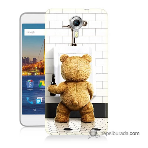 Teknomeg General Mobile 4G Android One Kılıf Kapak Tedy Bear Baskılı Silikon