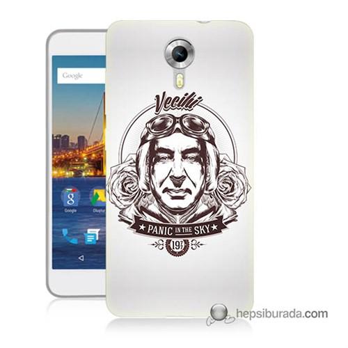 Teknomeg General Mobile 4G Android One Kılıf Kapak Vecihi Baskılı Silikon