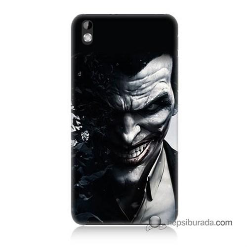 Teknomeg Htc Desire 816 Kılıf Kapak Joker Baskılı Silikon