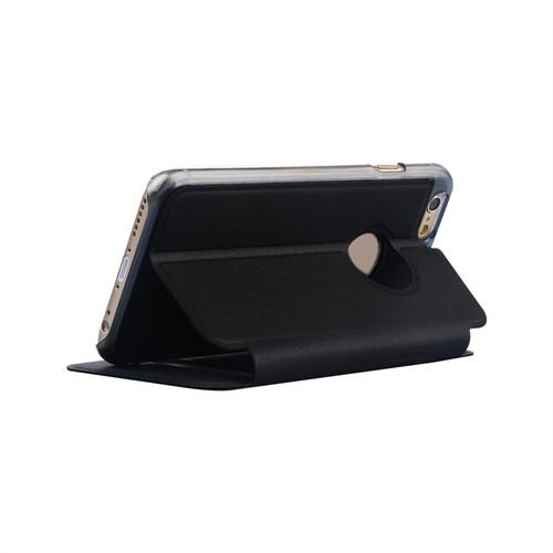 Baseus Kny Apple İphone 6S Gizli Mıknatıslı Çift Pencereli Standlı Kılıf