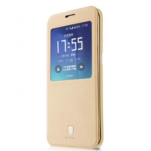 Baseus Kny Samsung Galaxy S7 Terse Serisi Kapaklı Uyku Modlu Kılıf