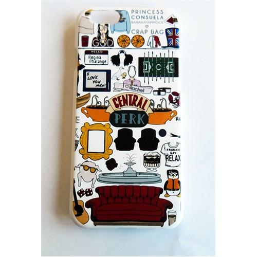 Köstebek Friends - Central Perk Kolaj İphone 6 Plus Telefon Kılıfı