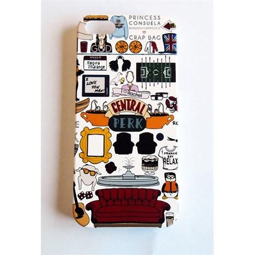 Köstebek Friends - Central Perk Kolaj İphone 5 Telefon Kılıfı
