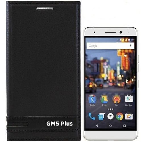 Kılıfshop General Mobile Gm 5 Plus Kapaklı Kılıf + Kırılmaz Cam Ekran Koruyucu (Siyah)