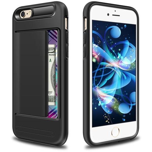 Kılıfshop Apple İphone 6 Plus Kılıf Damd Clip Cover (Siyah)