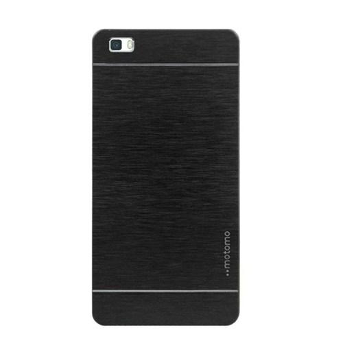 Kılıfshop Huawei P8 Lite Motomo Metal Kılıf (Siyah)
