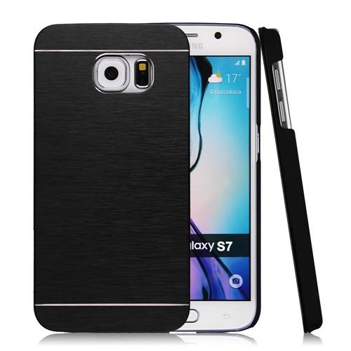 Kılıfshop Samsung Galaxy S7 Motomo Metal Kılıf (Siyah)