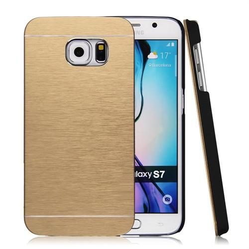Kılıfshop Samsung Galaxy S7 Motomo Metal Kılıf (Gold)