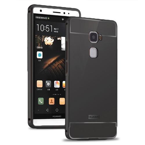 Kılıfshop Huawei Mate S Aynalı Lüks Bumper Kılıf (Siyah)