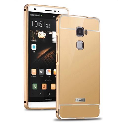 Kılıfshop Huawei Mate S Aynalı Lüks Bumper Kılıf (Gold)