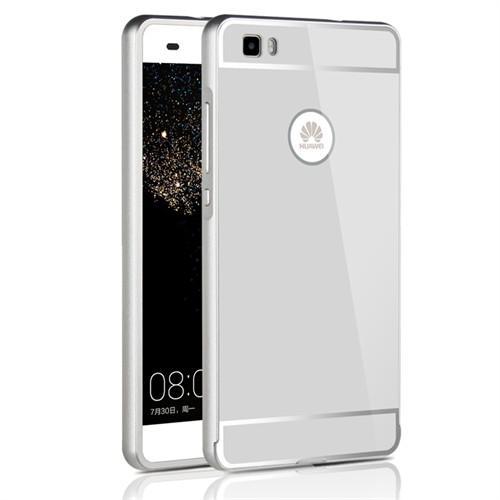 Kılıfshop Huawei P8 Lite Aynalı Lüks Bumper Kılıf (Gümüş)