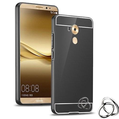 Kılıfshop Huawei Mate 8 Aynalı Lüks Bumper Kılıf (Siyah)