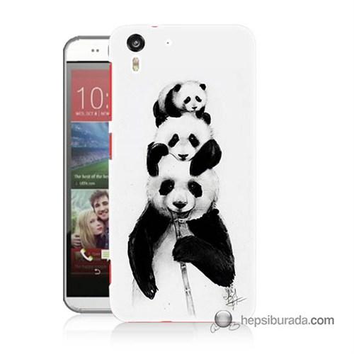Teknomeg Htc Desire Eye Kapak Kılıf Panda Ailesi Baskılı Silikon