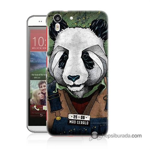 Teknomeg Htc Desire Eye Kapak Kılıf İşçi Panda Baskılı Silikon