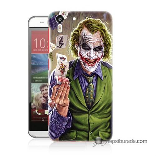 Teknomeg Htc Desire Eye Kılıf Kapak Kartlı Joker Baskılı Silikon