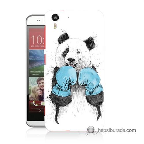Teknomeg Htc Desire Eye Kılıf Kapak Boksör Panda Baskılı Silikon