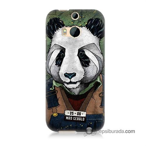 Teknomeg Htc One M8 Kapak Kılıf İşçi Panda Baskılı Silikon