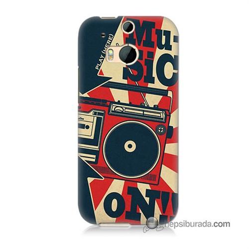 Teknomeg Htc One M8s Kapak Kılıf Müzik Baskılı Silikon