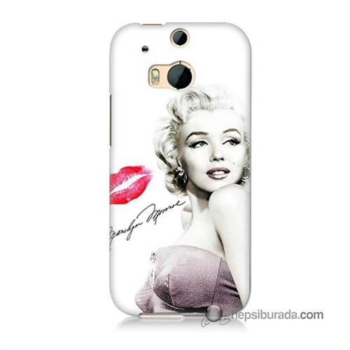 Teknomeg Htc One M8s Kapak Kılıf Marilyn Monroe Baskılı Silikon