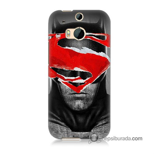 Teknomeg Htc One M8s Kapak Kılıf Batman Vs Superman Baskılı Silikon