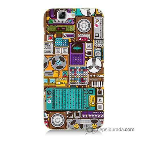 Teknomeg Huawei Ascend G7 Kılıf Kapak Teknoloji Baskılı Silikon