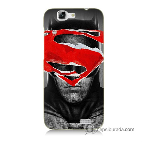 Teknomeg Huawei Ascend G7 Kapak Kılıf Batman Vs Superman Baskılı Silikon