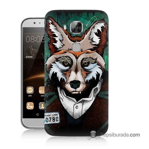 Teknomeg Huawei Ascend G8 Kılıf Kapak Bad Wolf Baskılı Silikon