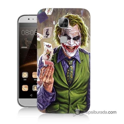 Teknomeg Huawei Ascend G8 Kılıf Kapak Kartlı Joker Baskılı Silikon