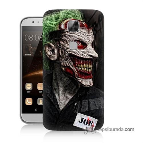Teknomeg Huawei Ascend G8 Kapak Kılıf Joker Joe Baskılı Silikon