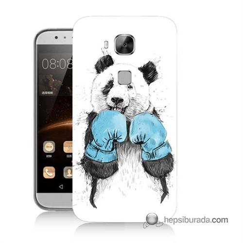 Teknomeg Huawei Ascend G8 Kılıf Kapak Boksör Panda Baskılı Silikon